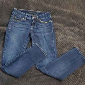 Girls size 8 blue denim Juicy Couture skinny jeans